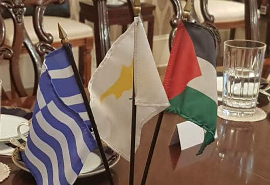 Greek FM meeting Cypriot and Palestinian counterparts 5