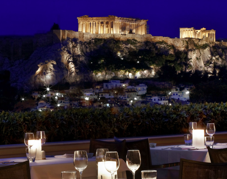 Fine dining with a view at Athens' famous Grande Bretagne 11