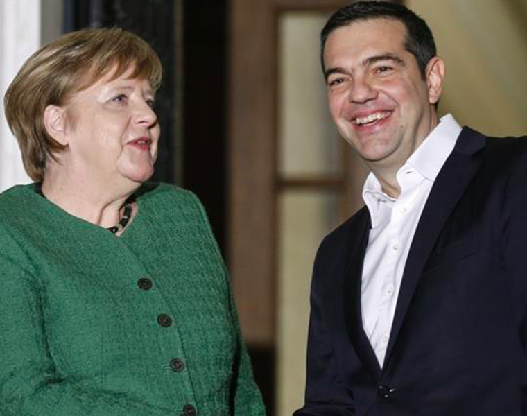 German Chancellor arrives in Athens to meet Greek PM Tsipras 7