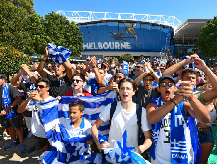 Melbourne's Greek community out in force to cheer on Tsitsipas 20
