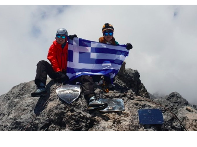 Two Greek women ready to climb 'Roof of the World' 1