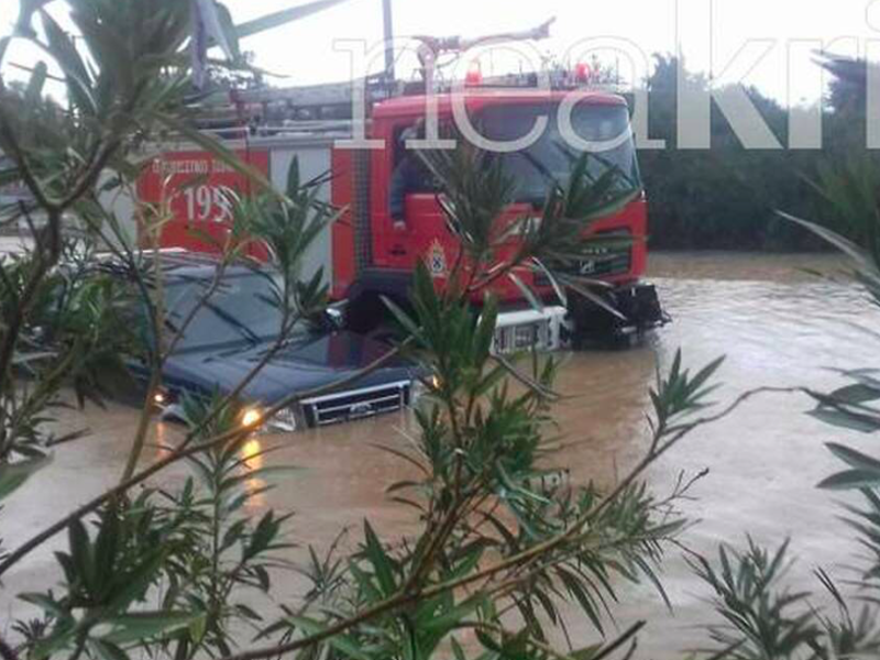 Cretan farmer missing after severe storms hit Chania 1