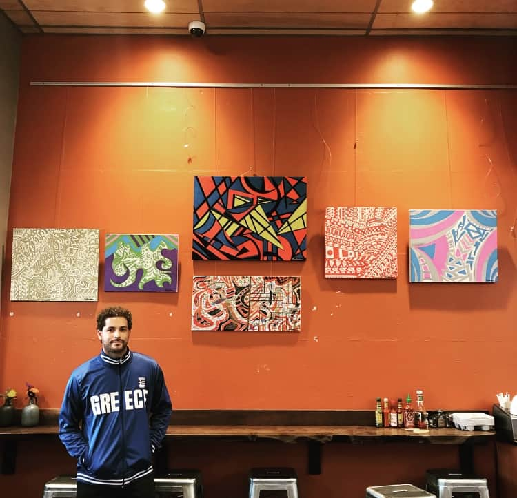 Greek American artist aims to have his artwork featured in galleries worldwide 7