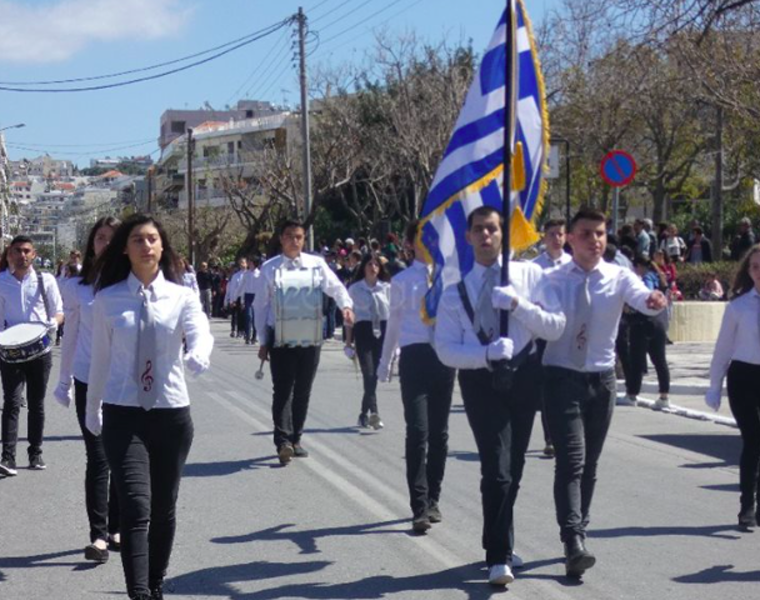 A blind student from Crete becomes proud flag-bearer for March 25 Parade in Chania 12