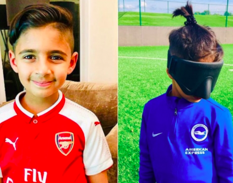 Brave young boy follows his dream of playing soccer despite losing his eyesight 26
