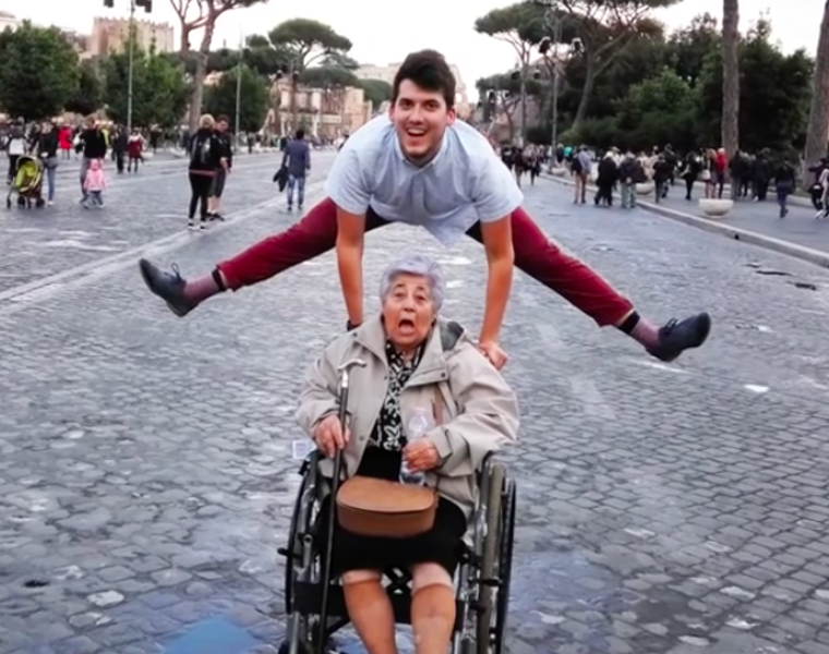 Grandson surprises his 83-year-old Yiayia with a trip to Rome for her birthday   21
