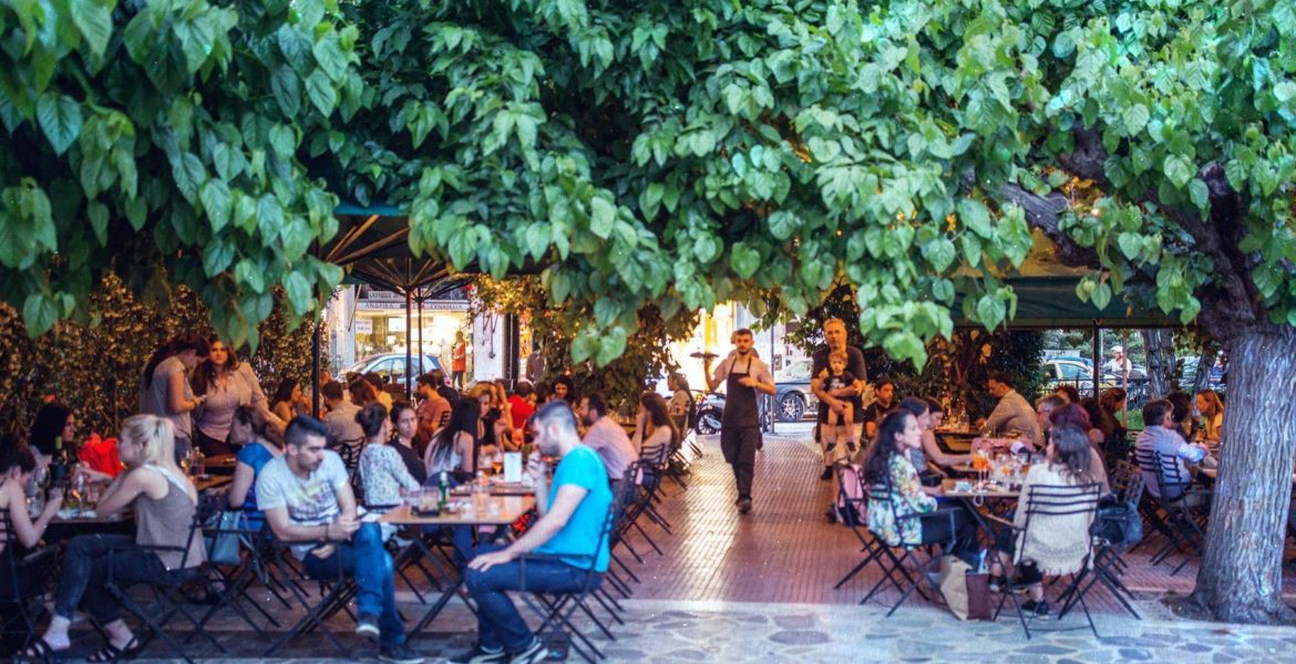 Mavili Square, one of Athens' coolest spots to grab a drink