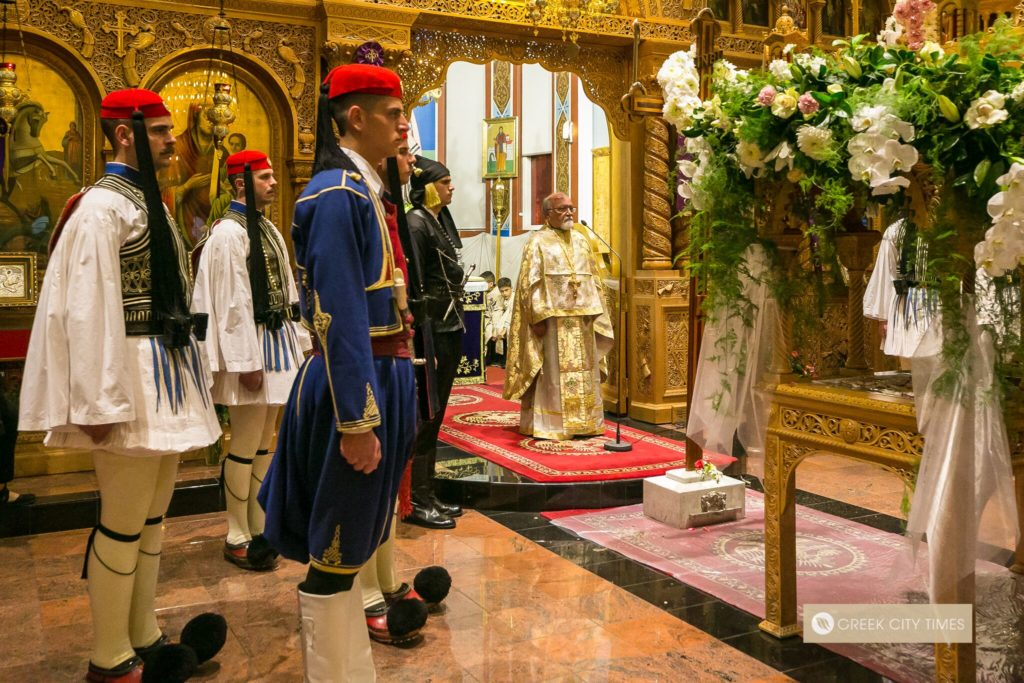 In a world first, Evzones stand guard at the Epitaphio in Adelaide 48