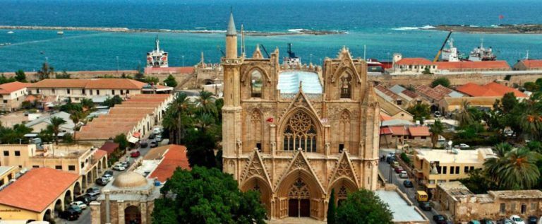 Historical St Nicholas Cathedral in Cyprus turned into a mosque under Turkish Occupation