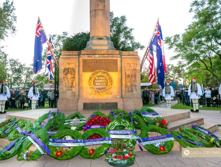 Evzones pay their respects to ANZACS at Dawn Service in Adelaide 101