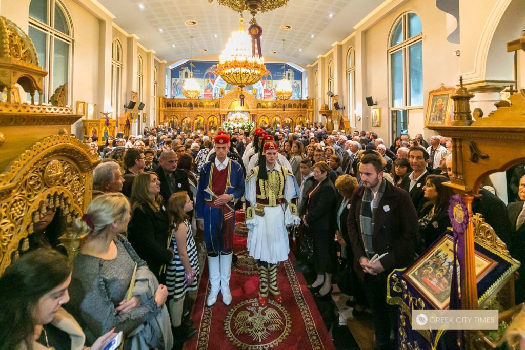 In a world first, Evzones stand guard at the Epitaphio in Adelaide 47