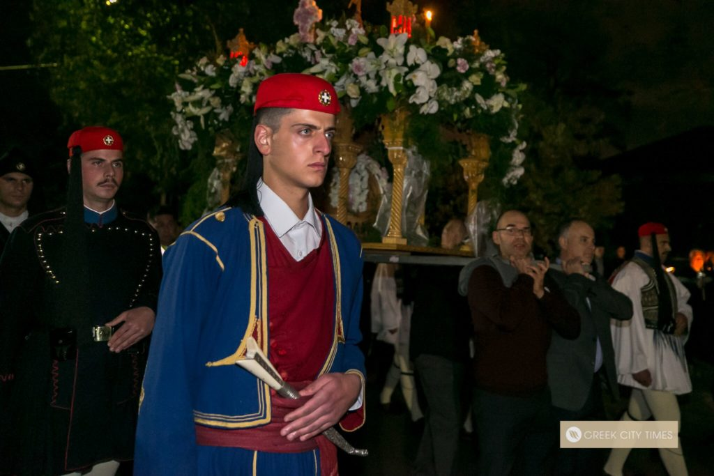 In a world first, Evzones stand guard at the Epitaphio in Adelaide 60
