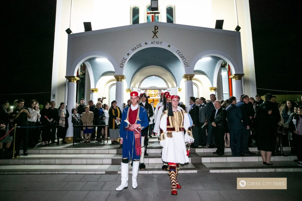 In a world first, Evzones stand guard at the Epitaphio in Adelaide 63