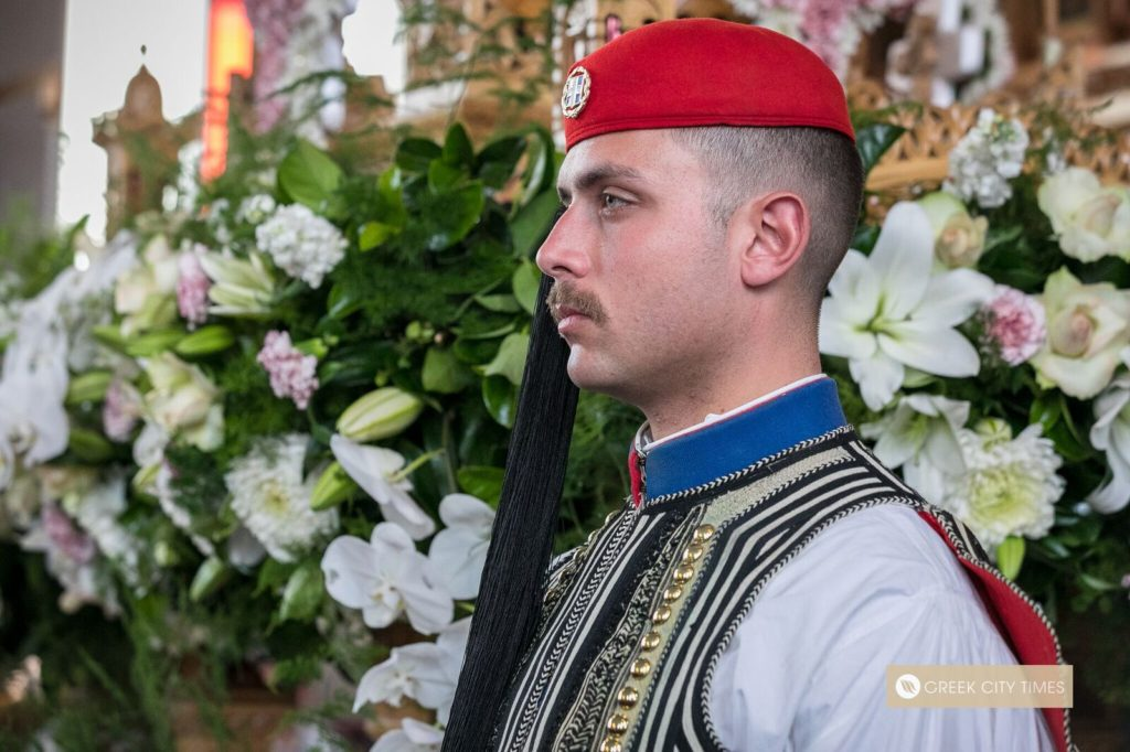 In a world first, Evzones stand guard at the Epitaphio in Adelaide 40