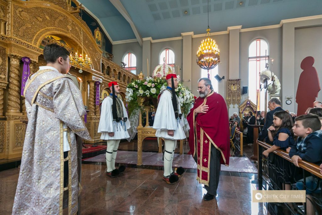 In a world first, Evzones stand guard at the Epitaphio in Adelaide 37