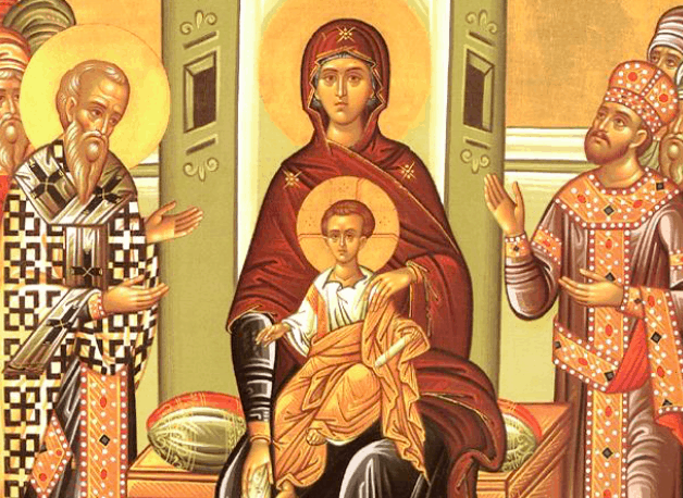 The Akathist Hymn chanted in Greek Orthodox Churches Every Friday of Great Lent 3