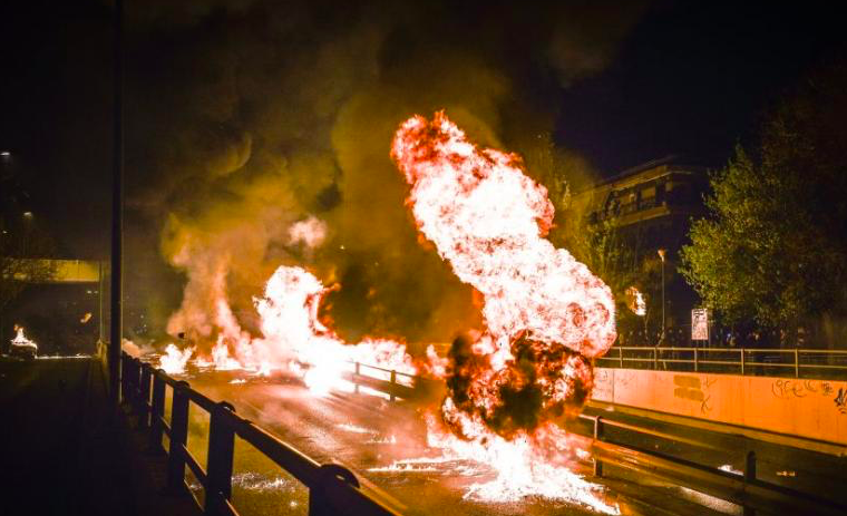 Anastasi in Neos Kosmos, Athens, celebrated with Molotovs and Fire 7