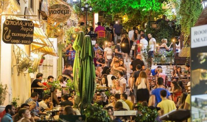 Athens' best cafe for people watching 24