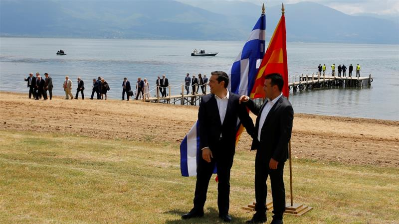 Greek PM in Skopje today with over 140 business people 2