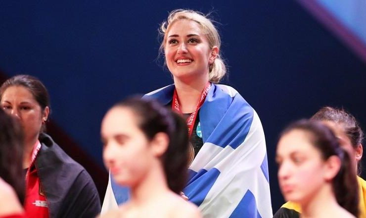 Greece's Eleni Konstantinidis wins 2 Gold Medals at European Weightlifting Championship 14