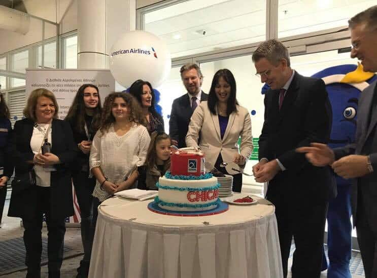 American Airlines celebrates very first non-stop flight from Chicago to Athens 5