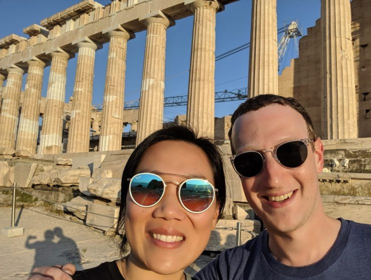 Facebook CEO Mark Zuckerberg celebrates 7 Years of Marriage with wife at the Parthenon 1