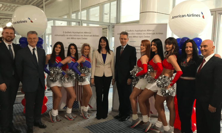 American Airlines celebrates very first non-stop flight from Chicago to Athens 2
