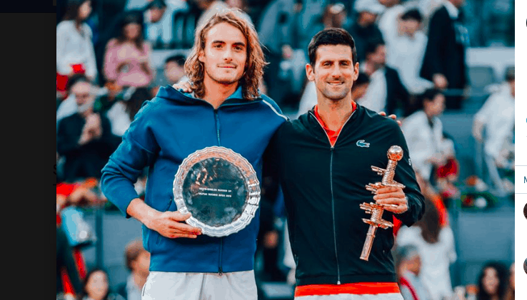 Greek tennis ace Tsitsipas is runner up at Madrid Open 4