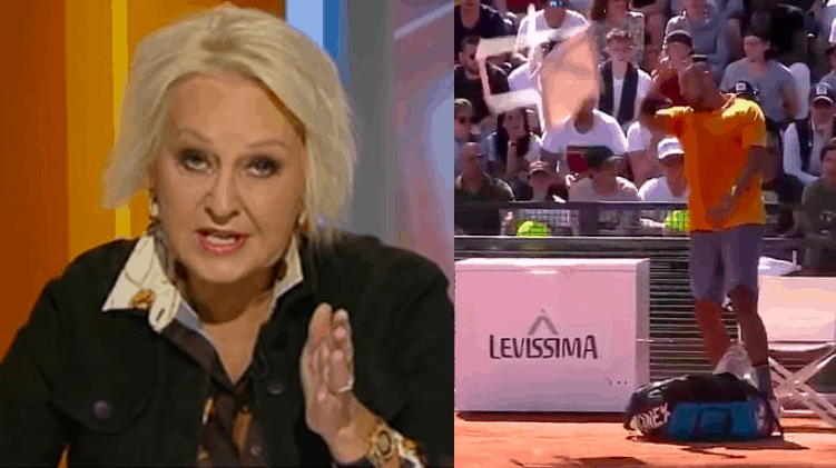 Nick Kyrgios called a 'spoiled little Greek brat' on national TV after being defaulted from the Italian Open 38