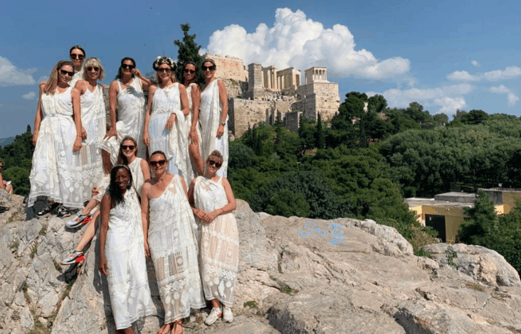 German tourists wearing ancient Greek costumes claim they were denied access to Acropolis 1