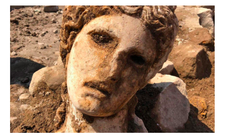 2,000-year-old marble head of Greek god Dionysus found in heart of Rome 13