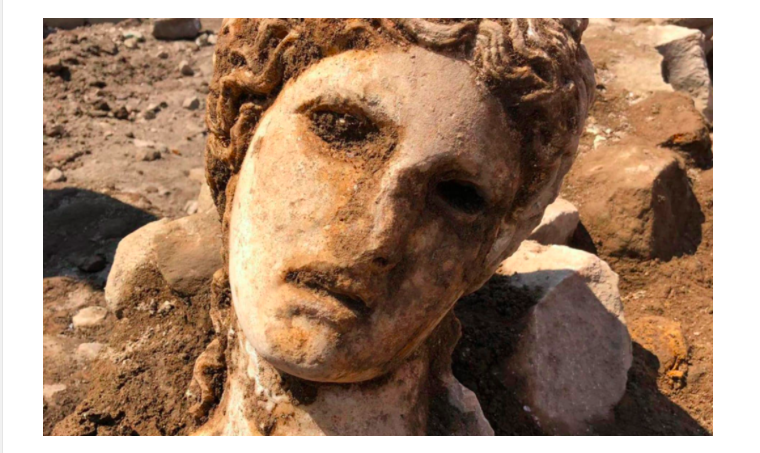 2,000-year-old marble head of Greek god Dionysus found in heart of Rome 3