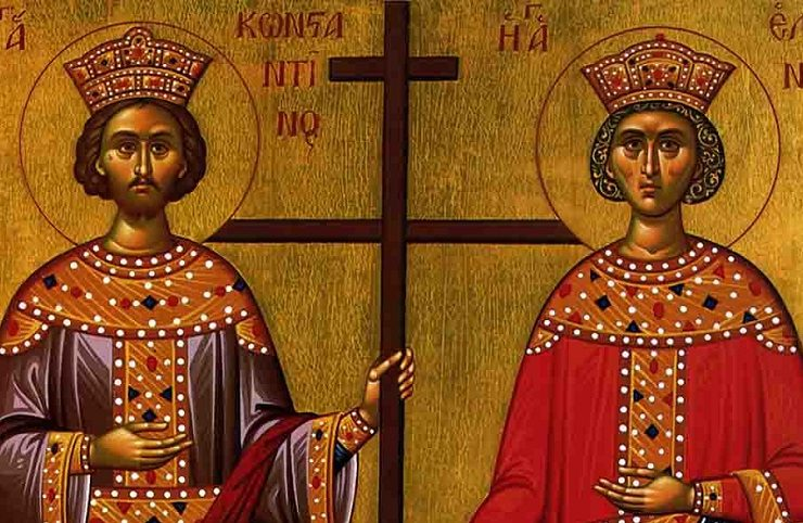May 21 Feast Day of Agios Konstantinos and Agia Eleni 22