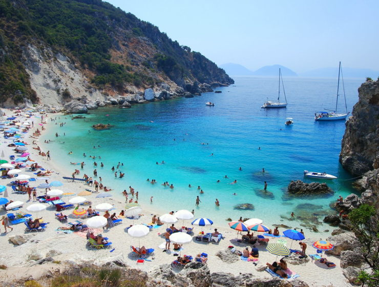 Greek Beach in Summer