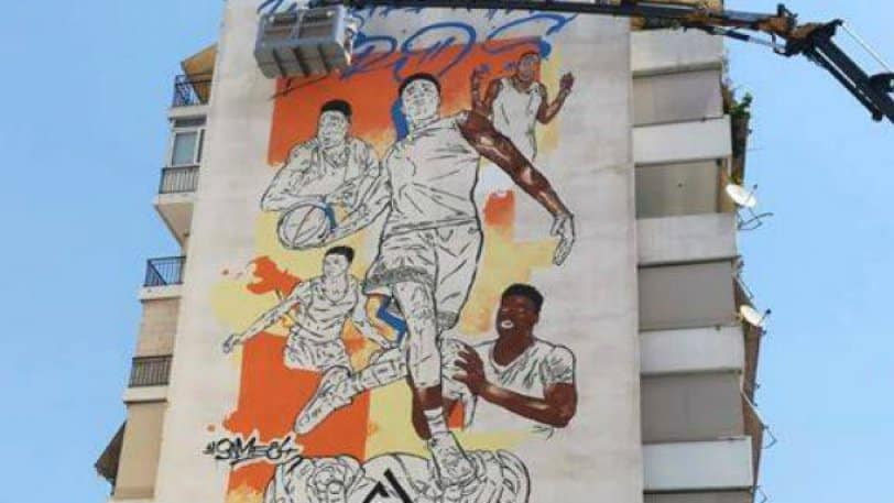 New graffiti of Giannis Antetokounmpo and his four brothers in Sepolia 2
