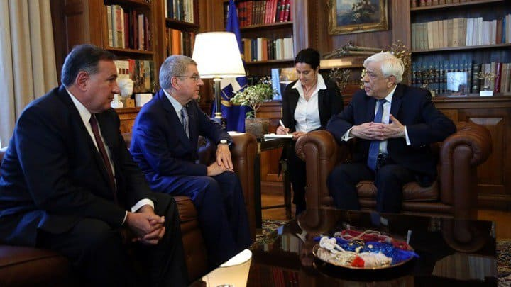 Greek President to award Grand Cross of the Order of the Phoenix to IOC President   1