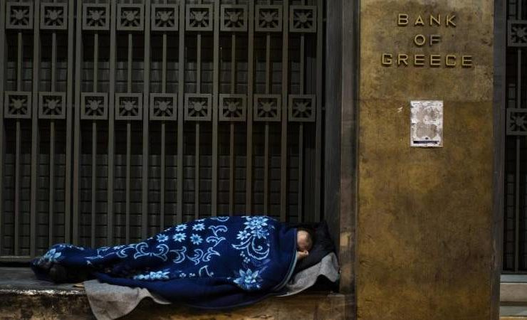 Threat of poverty for Greeks drops a few percentage points 5