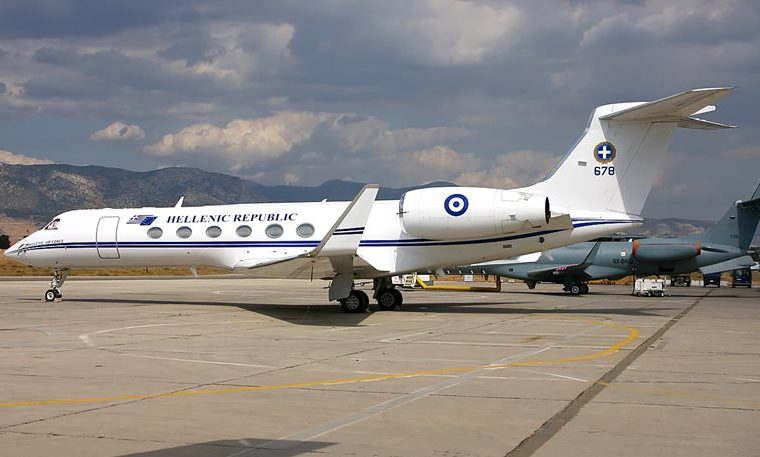 Greek team flying in PM's aircraft 7