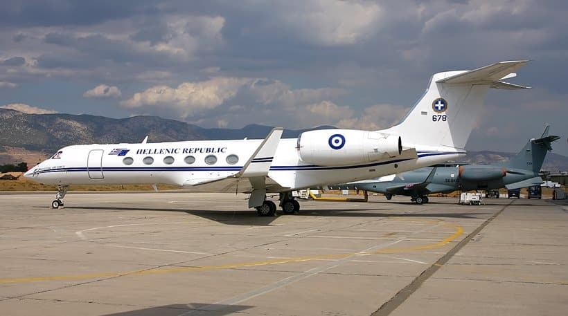 Greek team flying in PM's aircraft 2