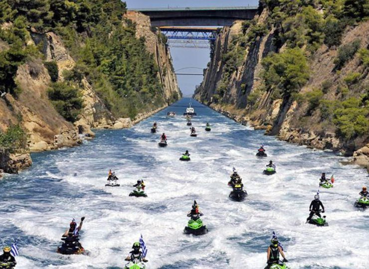Jet skis zoom their way through Corinth Canal (VIDEO) 4