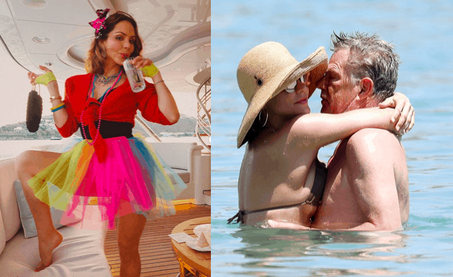 Katharine McPhee parties in Mykonos with fiancé David Foster ahead of their wedding 1
