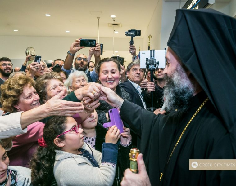 New Archbishop Makarios arrives in Australia to a huge warm welcome 35