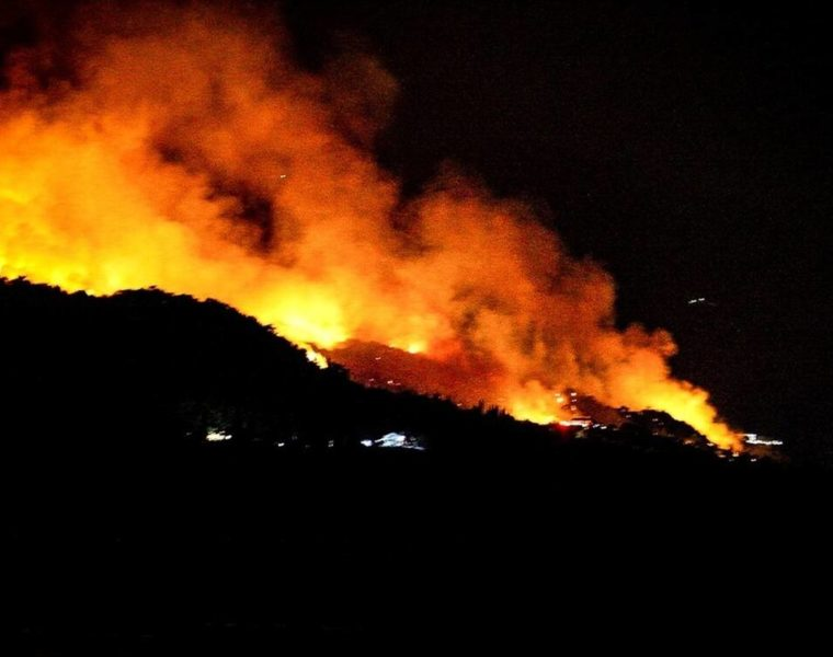 Firefighters continue to battle huge blaze in Evia, with man arrested for arson 9