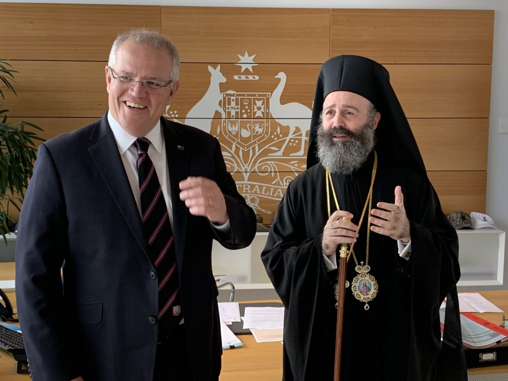 Prime Minister of Australia meets with His Eminence Archbishop Makarios