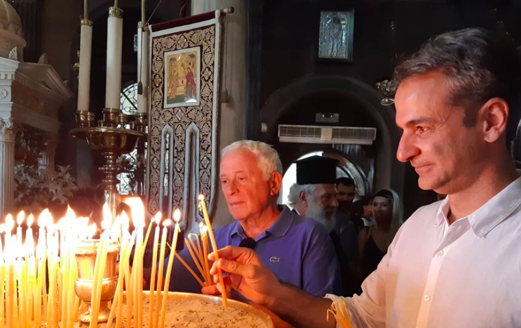 PM Mitsotakis attends Vespers Service in Tinos 11