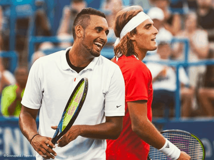 Nick Kyrgios and Stefanos Tsitsipas