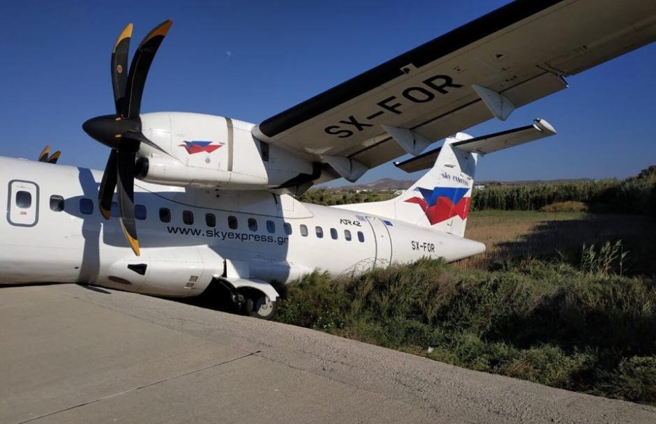 Naxos airport shuts after airplane accident 4