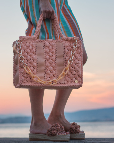 handmade handbag and shoes