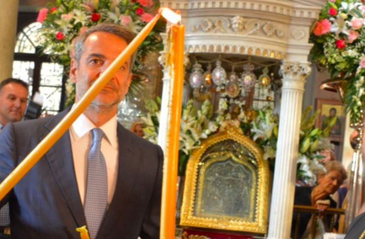 Greece's PM Mitsotakis attends August 15 liturgy in Tinos 30