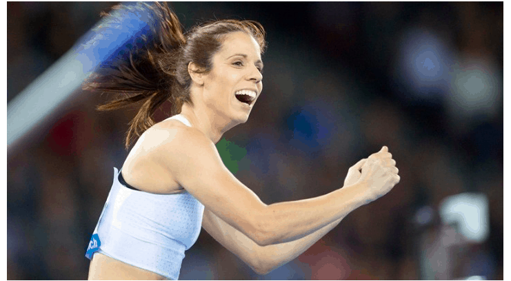 Greece's Katerina Stefanidi wins first place at Diamond League in Birmingham 2